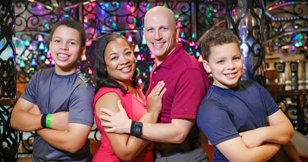 Dr. Saundra Dalton-Smith with husband and sons