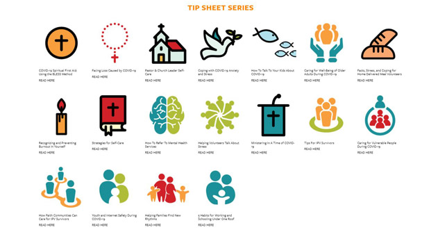 tip sheet icons for Humanitarian Disaster Institute