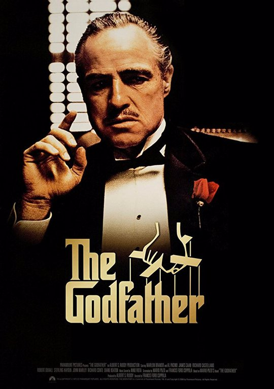 Marlon Brando as The Godfather movie poster